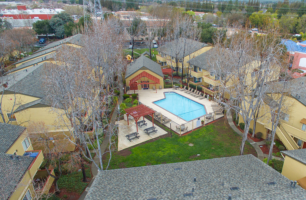 Crossroads Aerial View of Pool