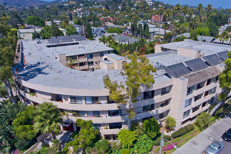 Aerial of Lyric Apartments in Hollywood