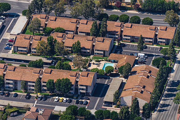 Aerial of Mountain View Apartments in Camarillo